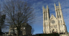 Basilica of our Lady Immaculata in Guelph, Ontario Stock Footage