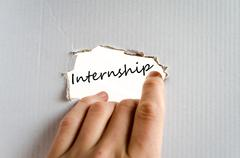 Internship Concept - stock photo