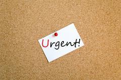Sticky Note Urgent Concept Stock Photos