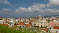 Beautiful Vista of Chania Crete Stock Footage