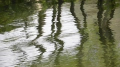 River Reflections with Swirls - stock footage