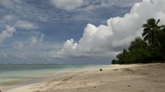 Rarotonga beach Cook Islands Stock Footage