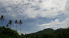 Time lapse from the country side of Rarotonga Cook Islands Stock Footage