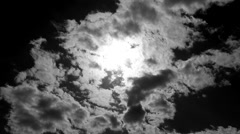View of sun in clouds - stock footage