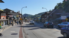 Downtown Gatlinburg in the Smoky Mountains in Tennessee - stock footage