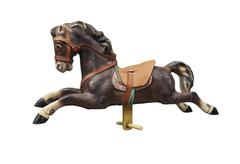 Old wooden and vintage Carousel Horse - stock photo