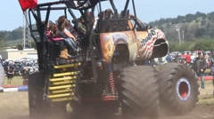 Monster truck rally Stock Footage