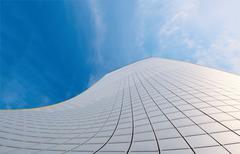 Abstract facade of modern high commercial building Stock Photos