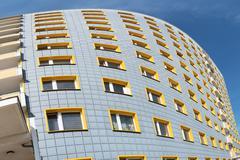 facade of modern apartment building - stock photo