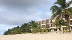 Hotel at the beach in Rarotonga Cook Islands Stock Footage