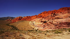 Wonderful colors of Red Rock Canyon Stock Footage