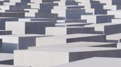 Stock Video Footage of berlin holocaust cemetery memorial monument 4k