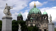 ULTRA HD 4K Timelapse cloud pass Berlin cathedral landmark iconic place tourism  Stock Footage