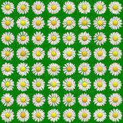 Bloom set generated texture - stock illustration