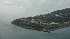 Captiva Island Golf Course Aerial Stock Footage