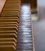 Organ Keys in Church Stock Photos