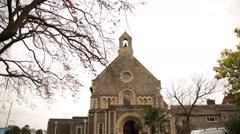 English Church tilt Stock Footage