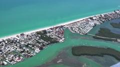 Englewood Beach 4K Aerial Stock Footage