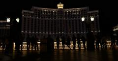 Las Vegas Bellagio Water Fountain 4K Stock Video - stock footage