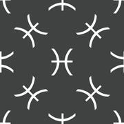 Stock Illustration of Pisces symbol pattern