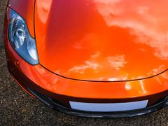 Sport car headlight - stock photo