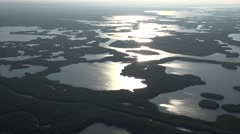Everglades National Park, Florida Aerial - stock footage