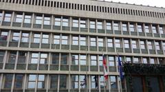 4K, Slovenian Parliament in Ljubljana, Europe - stock footage
