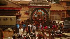 Kala Bhairava statue at Hanuman Dhoka, Kathmandu Durbar Square, Nepal. Stock Footage