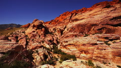 Stock Video Footage of Colorful rocky landscape in Nevada desert