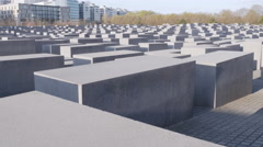 Berlin holocaust memorial monument 4k Stock Footage