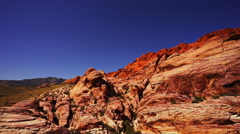 Red Rocks in the canyon lands Stock Footage