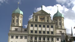 Town Hall, Augsburg - stock footage