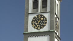 Bell tower, Augsburg Stock Footage