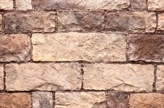 Stock Photo of The texture of the masonry