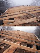 Roof rafters - stock photo