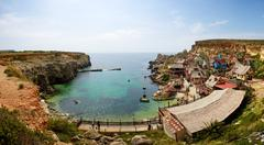 """Popeye village"" is a tourists attraction in Malta - stock photo"
