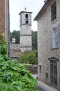 Steeple in Valbonne - stock photo