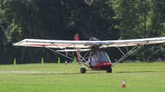 Ultralight take-off - stock footage