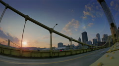 Pittsburgh Sunrise Timelapse Stock Footage