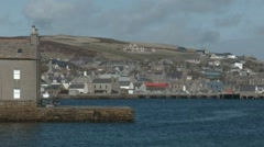 Town of Stromness on Orkney Stock Footage