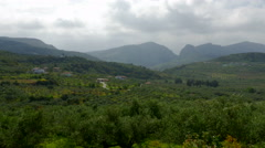 Crete's Countryside and Mountains Stock Footage