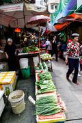 Hong Kong Historic Landmark: Graham Street Wet Market - stock photo