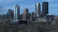 Skyline of Pittsburg Stock Footage