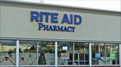 Rite Aid pharmacy drugstore, loop - stock footage