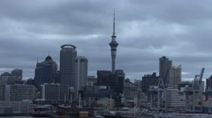 New Zealand Auckland Skyline Stock Footage
