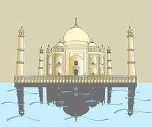 Taj Mahal. Indian palace Stock Illustration