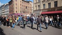 Berlin, Kreuzberg - people - crowded Street Stock Footage