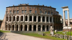 The Theatre of Marcellus in Rome Stock Footage