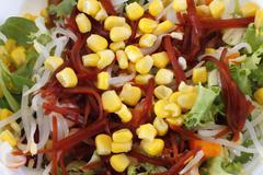 Illustrated salad Stock Photos