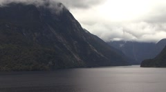 New Zealand Milford Sound Epic View Stock Footage